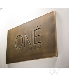 Rectangular-shaped personalized plaques in aged brass with vintage effect. Shop Signage, Cafe Signage, Wayfinding Signage, Signage Design, House Name Signs, House Names, Home Signs, Name Plates For Home, Personalized Plaques