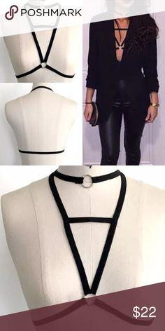 Choker Style Harness Bralette NWT. NO TRADES (G118-G121) Quinn-Tessential Desires Intimates & Sleepwear Bras