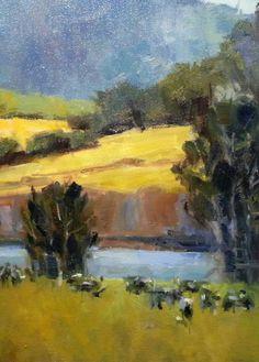 """GRAZING HERD"" Jessica Anne Thomas Original oil painting."