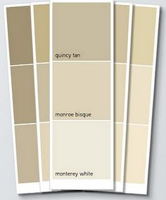 Benjamin Moore Monroe Bisque as a neutral - basement Paint Colors, Interior Paint Colors, Shaker Beige, Brown And Grey, Taupe Paint Colors, House Painting, House Colors, Hallway Colours, Color