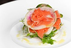 Grappa-Cured Trout, 1789  Georgetown  Grappa-cured between 24-48hrs (depending on the fish), this Springtime dish that was too cool for the ...