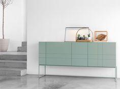 Asplund Furniture, KILT cabinet, concrete floor, green, white, product styling