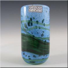 Gozo Maltese Glass 'Seaweed' Vase - Signed + Labelled - £25.00