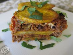 Plantain Beef Pie- now we can successfully use those plantains we got from Bountiful Basket!