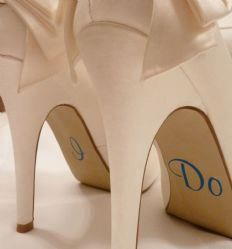 I Do bridal shoes .. love this idea! Visit www.mysimplysaiddesigns.com/shawna or email at shawnasimploysaid@cox.net