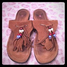 Penny Loves Kenny Fringe Beaded Arroyo Sandal Love these super comfortable suede fringe Sandles. Perfect for the summer time  Penny Loves Kenny Shoes Sandals