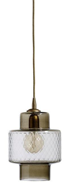 Nordal Glazen hanglamp smoke