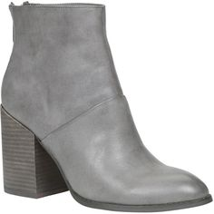 ALDO Gabba Boots ($70) found on Polyvore featuring shoes, boots, grey, pointed-toe boots, grey ankle boots, pointy toe ankle boots, short boots and gray boots