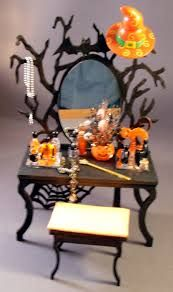 halloween inspired miniatures haunted dollhouse pinte