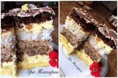 Chocolate and strawberry cake - HQ Recipes Russian Cakes, Chocolate Strawberry Cake, Healthy Sweets, No Cook Meals, Quick Easy Meals, Chocolate Recipes, Sweet Recipes, Food And Drink, Cooking Recipes