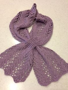 Lovely Lacy Keyhole Scarf - Knitting