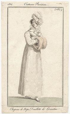 Pelisse of Levantine, 1816 costume parisien