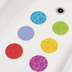 """Buy 6 Grippy Bath Dots by Munchkin from Mulberry Bush 