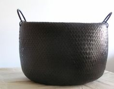 Vintage woven basket -- but with rubberized coating