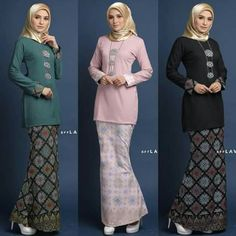 Baju Kurung batik Muslimah Fashion Others on Carousell İslami Erkek Modası 2020 Batik Fashion, Abaya Fashion, Muslim Fashion, Modest Fashion, Fashion Outfits, Dress Brokat, Kebaya Dress, Batik Kebaya, Batik Dress
