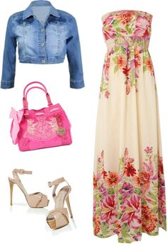 """""""floral maxi dress"""" by julsan on Polyvore"""