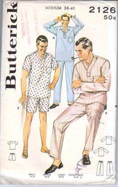 Butterick 2126 1950s Pajamas  Vintage Sewing by retromonkeys, $6.00