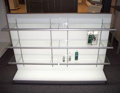 Gôndola do Sistema Elux - Gôndola com prateleiras com iluminação.