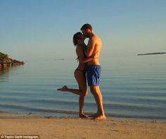 Life's a beach: Taylor Swift and Calvin Harris shared sweet photos from their romantic beach getaway on Tuesday