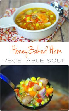 HoneyBaked Ham & Vegetable Soup - Home & Plate