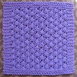 Knitted Dishcloth Pattern #1: Blackberries