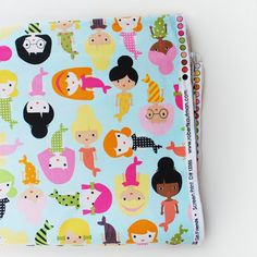 mermaid fabric / ann kelle - I wish I had any sewing ability- this would be so cute in a dress