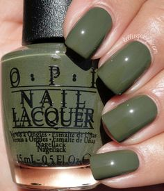 fall nail colors, dark green nails colors.