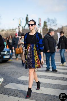 colorful skirt with printed cardigan