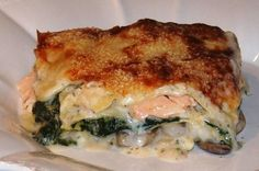 Lasagne au saumon et aux crevettes