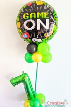 Balloon specialists like myself can do so much more with your number balloons.Why just have a floating single number when you can have a balloon display and make a feature out of the number balloon. Balloon Stands, Balloon Display, 7th Birthday, It's Your Birthday, Birthday Parties, Balloon Cars, Number Balloons, Milestone Birthdays, Birthday Balloons
