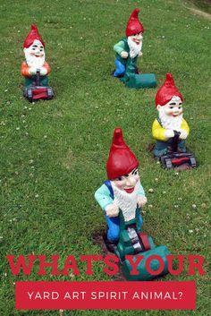 QUIZ: What's your yard art spirit animal? >> http://www.hgtv.com/design/outdoor-design/outdoor-spaces/whats-your-yard-art-spirit-animal-quiz?soc=pinterest