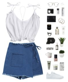 """""""Wrap skirt"""" by f-resh ❤ liked on Polyvore featuring Recover, adidas Originals, Karl Lagerfeld, Davines, NARS Cosmetics, Gucci, French Girl, Yves Saint Laurent, Burcu Okut and Le Labo"""