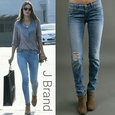 "J Brand Distressed Mid-rise Skinny Jeans J Brand 811 Mid-rise Skinny Distressed Jeans in tulum. As seen on Alessandra d'Ambrosio, Gwen Stefani, Rhianna, and more. Absolutely fabulous jeans that no longer fit me. Approx 9"" mid-rise, 30"" inseam. 92% cotton, 7% polyester, 1% spandex. Very good used condition. No flaws or stains. Distressing is in good condition, meaning most threads across knee are still intact, and jeans look like they were designed to, rather than worn out. Sized 30, but run…"