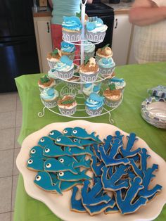 Nautical (whale) Themed Baby Shower Desserts.