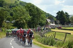 Scenic shots of the 2014 Tour de France | The peloton rides through Yorkshire Dales during the first stage of the 2014 Tour de France, a 190km stage between Leeds and Harrogate.