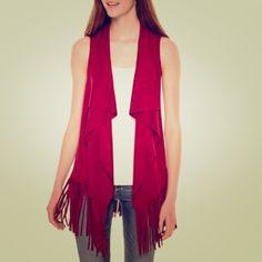 Suede, fringe vest! Never worn Decree Jackets & Coats Vests