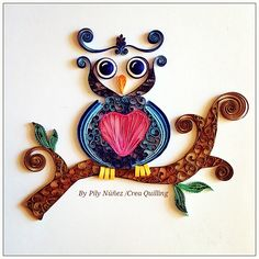 ❀ Crea Quilling ❀ : A crazy quilled owl