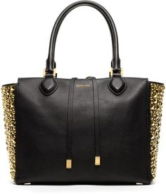Michael Kors  Large Miranda Studded Tote #lovely #black #michaelkors
