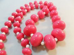 Vintage Necklace / Collar / Choker  Pink White by KathiJanes, $16.95