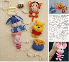 New Piglet Wooden Die Cutting Dies DIY Scrapbooking Animal Sewing Patterns, Felt Patterns, Stuffed Animal Patterns, Felt Crafts, Diy And Crafts, Cute Winnie The Pooh, Craft Projects, Sewing Projects, Felt Mobile