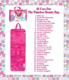 Thirty-One uses for the Timeless Beauty Bag #31uses www.mythirtyone.com/crystalperry https://www.facebook.com/groups/686246991407743/