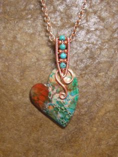 RESERVED FOR DENISETurquoise and coral sea by 5DogsDesigns on Etsy, $28.00