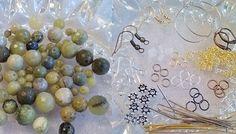 DIY Mixed Jade Gemstone Beads Earrings Kit by SkullMoto on Etsy