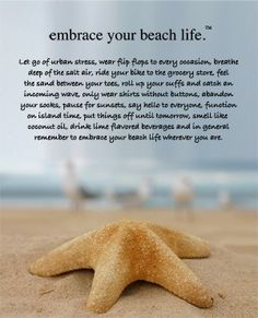 Embrace Your Beach Life. The best life. by meganinja Beach Words, I Need Vitamin Sea, Beach Quotes, Ocean Quotes, Beach Sayings, Summer Quotes, Fun Sayings, Just Dream, Dream Life
