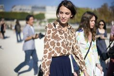 Alexa Chung in J.W.Anderson paisley