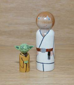 Star Wars Peg Dolls by HethrFethr on Etsy