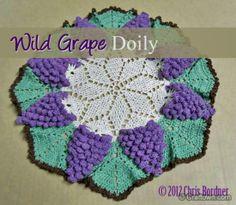 Free crochet pattern - Wild Grape Doily