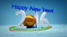 3D HAPPY NEW YEAR 2016