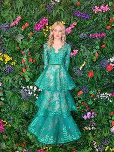 AMBAR STUDIO 2019 Selene Green Dress