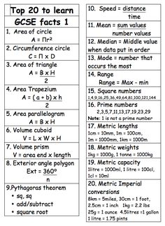 Maths on One thing all maths teachers should do this week is to print this out for their students' GCSE Maths revision files!One thing all maths teachers should do this week is to print this out for their students' GCSE Maths revision files! Gcse Maths Revision, Revision Tips, Revision Notes, English Gcse Revision, Revision Techniques, Biology Revision, Gcse Exams, Maths Exam, Gcse English